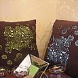 Alcantara cushions