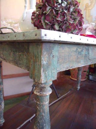 Old florist table