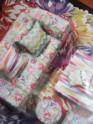 Sofa in Missoni fabrics