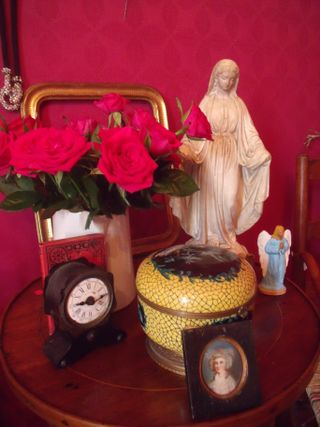 Virgin and roses