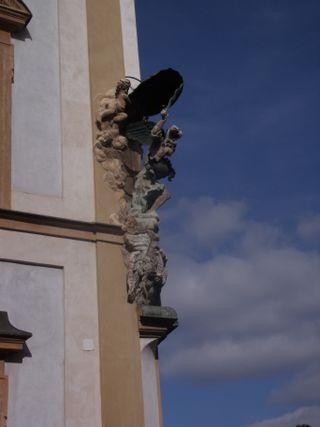 Statue on a facade
