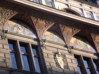 Mosaic on a facade