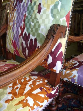 Missoni on an antique armchair