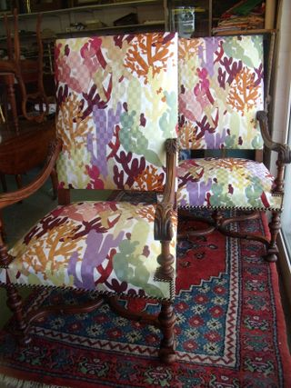 Missoni on XIX th pair of armchairs