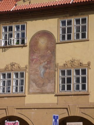Masterpiece of art on a facade