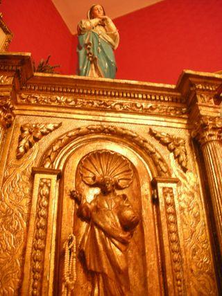 Religious vision .gilded XVIII th century tabernacle
