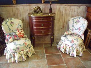 Petite pair of armchairs
