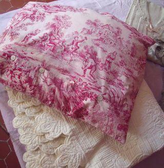 Vintage toile de jouy pillow