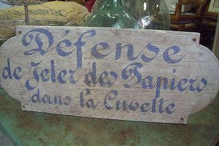 French handpainted sign