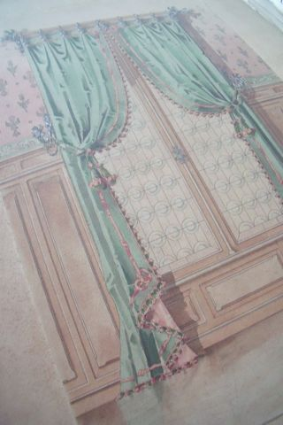 Watercolor of rench decor