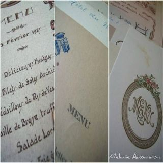 Vintage french menus