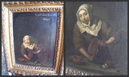 XVII th dutch antique painting