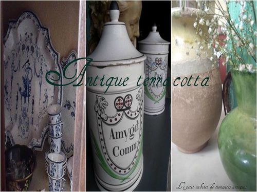 French antique terracotta