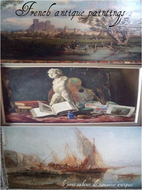 French antique paintings
