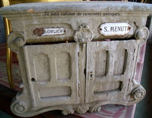 French antique mailbox