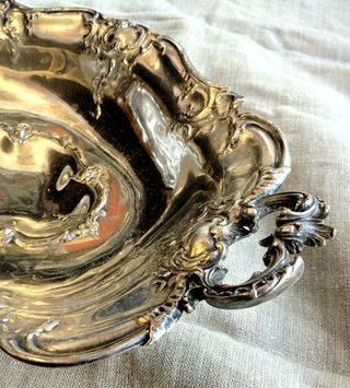 French silver basket