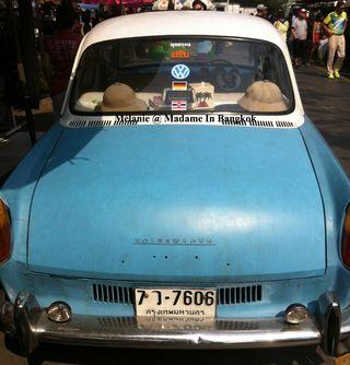 Vintage car in Chatuchak Bangkok