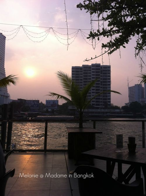 Bangkok sunset from River city