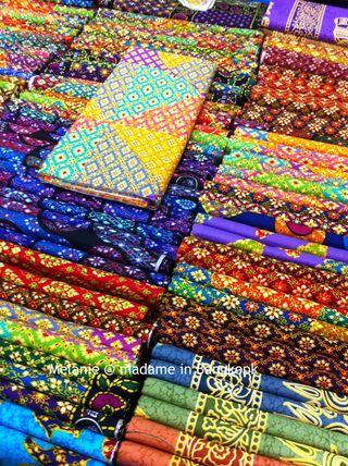 Colorful sarong madame in Bangkok
