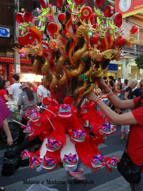 Dragon toys in chinatown