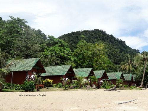 Bungalows sur la plage de Koh Chang