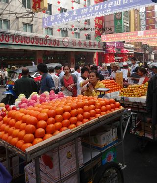 Fruit stalls in Chinatown