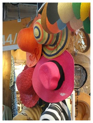 Colorful hats in chatuchak