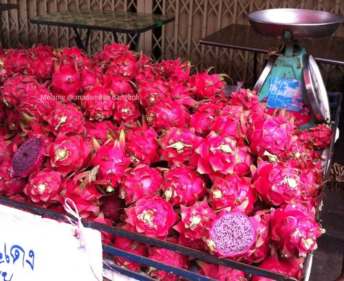 Pink dragon Fruits in Thailand