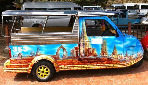 Tourist tuk tuk in ayutthaya