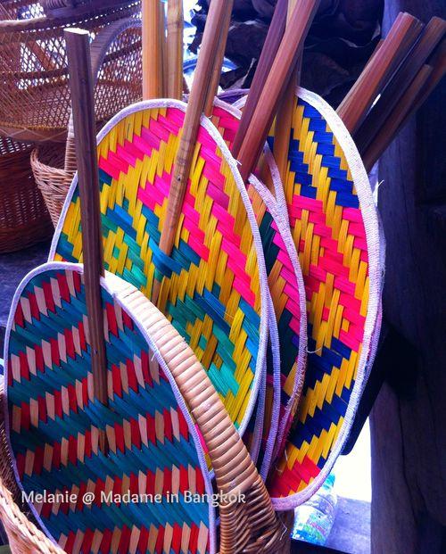 Colorful fan in bangkok