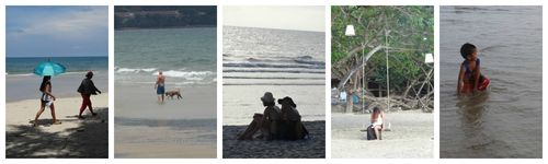 Sur la plage de koh chang Collage