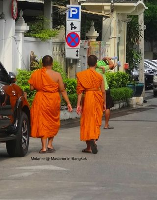 2 monks near temple