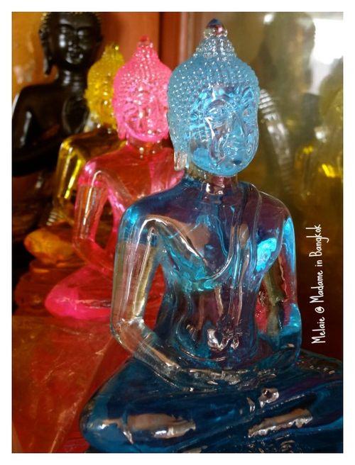 Colorful buddhas at chatuchak market