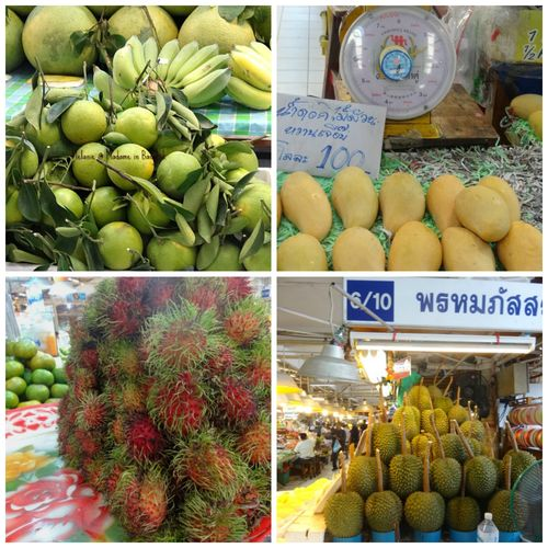 Or tor kor market fruits Collage