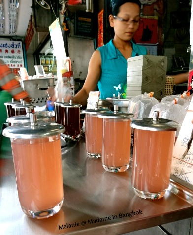 Pink tea in chinatown bangkok
