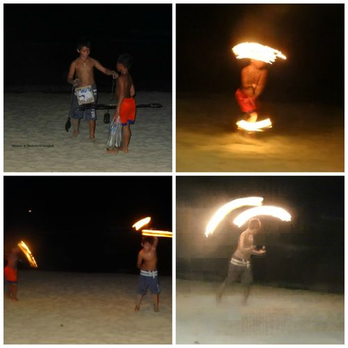 Fire show by kids in Koh Chang