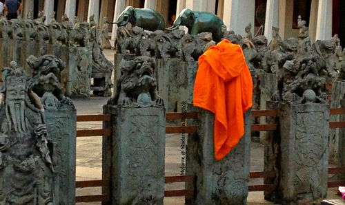 Monk outfit in Wat Arun