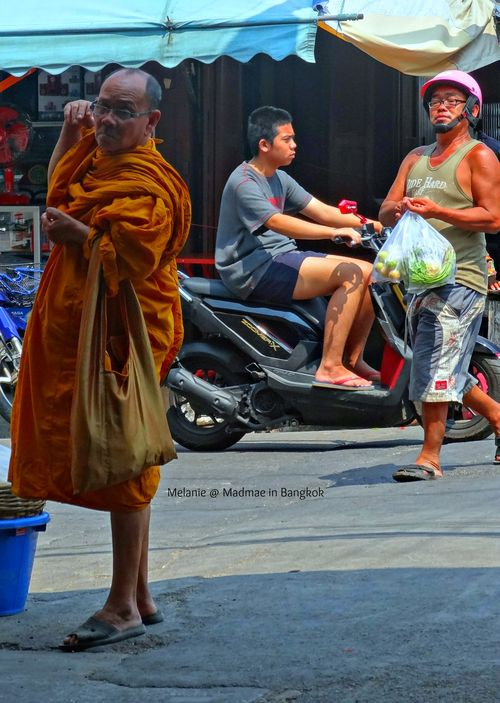 Monk near market
