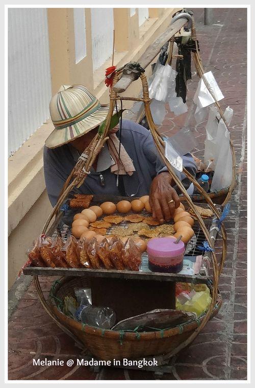 Cuisine portative  street patisserie in Bangkok