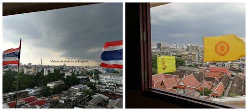 Golden mount vue sur Bangkok Collage
