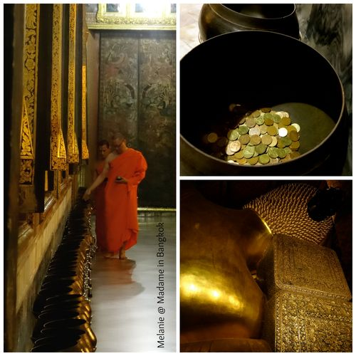 Wat pho by night monks Collage