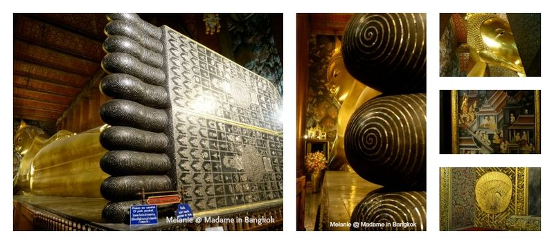 Wat pho by night buddha couché Collage