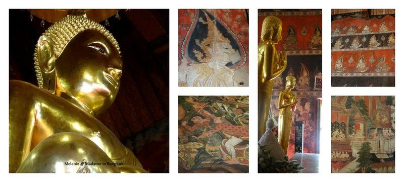 Thonburi bangkok noi wat inside Collage
