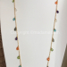 Long necklace with semi precious briolettes