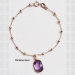Bracelet with amethyst charm
