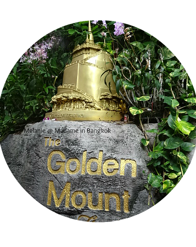 Golden mount sign round