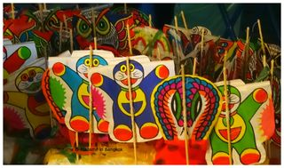 Wat saket fair thai kites
