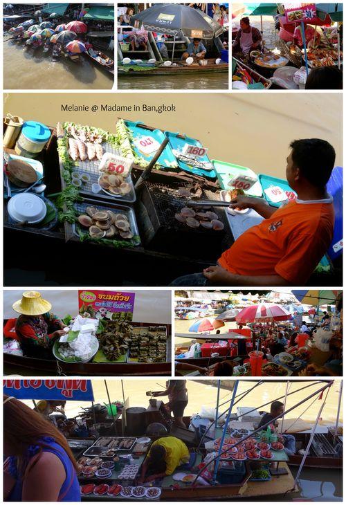 Amphawa marché flottant Collage