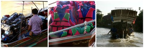 Amphawa cruise boats Collage