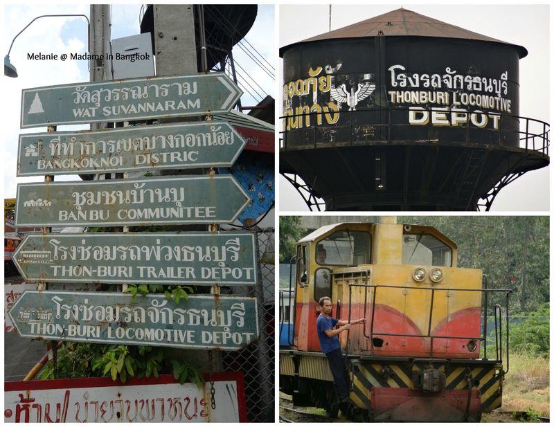 Thonburi locomotive depot Collage